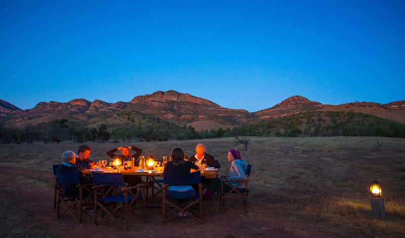 An evening meal with view. The Flinders Ranges are a special place!