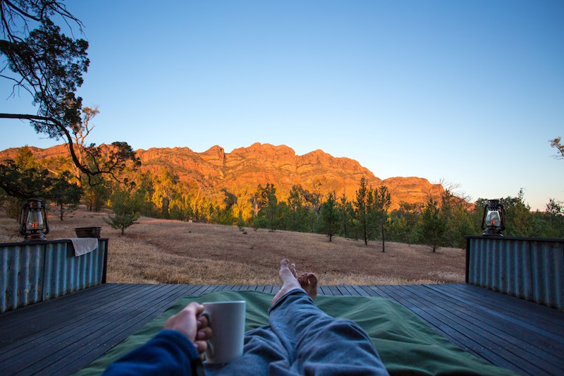What better way to explore the Flinders Ranges. Luxury Camping at its finest!
