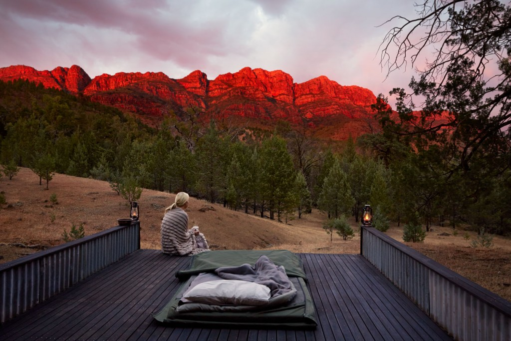 A bit of Luxury glamping and fine dining on our trek through the Flinders Ranges.