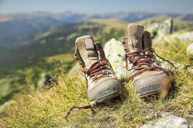 Hiking boots.