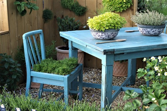 Recycled Furniture Ideas For Your Backyard And Dream Garden Interesting Ideas For Backyard Gardens Concept